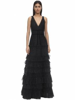 Tiered Glittered Tulle Gown Marchesa Notte 71IWVN011-QkxBQ0s1