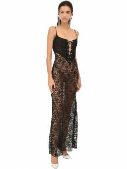 Lace Long Dress W/ Bustier Alessandra Rich 71IRKM026-OTAw0