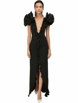 Cady Ruffled Long Dress Alessandra Rich 71IRKM010-OTAw0