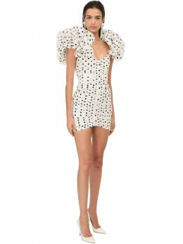 Polka Dots Taffeta Mini Dress Alessandra Rich 71IRKM003-ODIy0