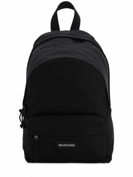 Double Explorer Nylon Backpack W/logo Balenciaga 71IOFX020-MTAwMA2