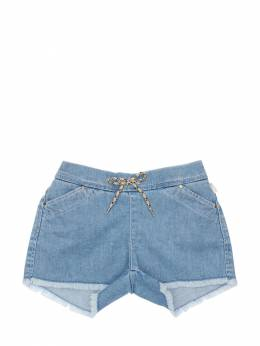 Light Denim Effect Cotton Shorts Chloe 71IOFI028-WjEw0