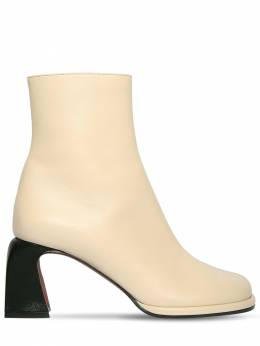 65mm Chae Leather Ankle Boots Manu Atelier 71IMUP006-VkFOSUxMQQ2