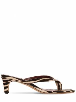 55mm Audrey Printed Ponyskin Sandals Staud 71IMUM006-WkVCUkE1