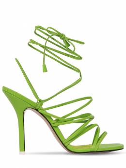 105mm Leather Lace Up Sandals The Attico 71IMUI004-MDM20