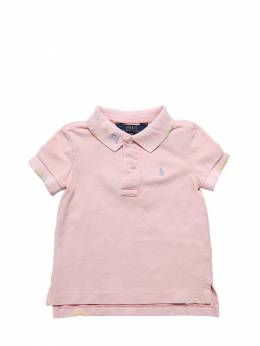 Embroidered Cotton Piquet Polo Ralph Lauren 71ILX9013-MDA00