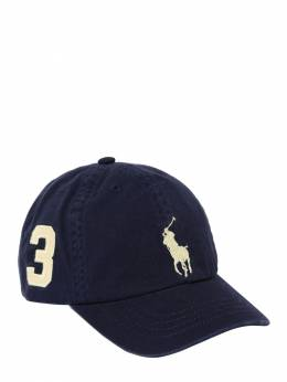 Logo Embroidered Cotton Gabardine Hat Ralph Lauren 71ILX8098-MDA20