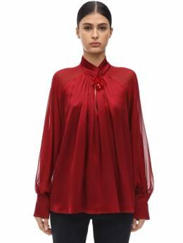 Рубашка Из Атласа И Шифона Max Mara 71ICD5047-MDE40