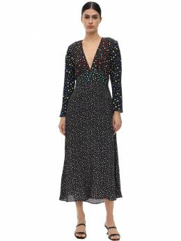 Длинное Платье Из Вискозного Крепа Rixo 71I7PV019-NDU50