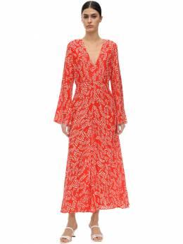 Платье Из Шелка И Вискозы Rixo 71I7PV004-NjU30
