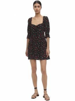 Платье Из Шелка С Принтом Rixo 71I7PV002-NjU20
