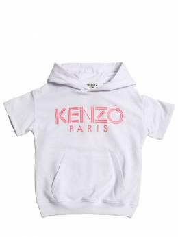 Свитшот Из Хлопка С Принтом Kenzo Kids 71I6TB071-MDE1