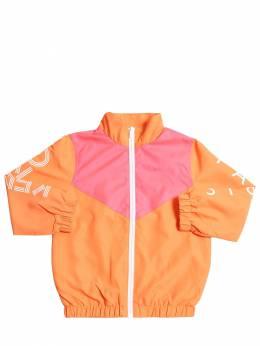 Куртка Из Нейлона С Принтом Логотипа Kenzo Kids 71I6TB002-NzY1
