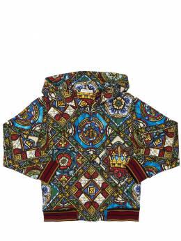 Свитшот Из Хлопка С Принтом Dolce&Gabbana 71I6SR065-SEg5NEM1