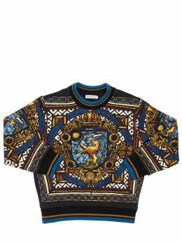 Хлопковый Свитшот С Принтом Dolce&Gabbana 71I6SR059-SEg4NEM1