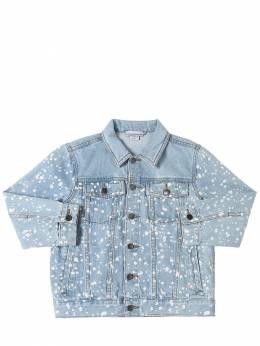 Куртка Из Стретч Денима С Принтом Stella McCartney Kids 71I6SJ002-NDE2NA2