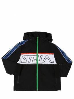 Куртка Из Нейлона С Принтом Логотипа Stella McCartney Kids 71I6SJ001-MTA3Mw2