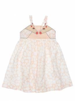 Платье Из Хлопкового Муслина Stella McCartney Kids 71I6SH093-NTc2Mw2