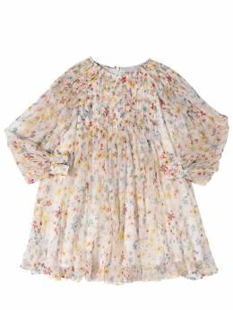 Платье Из Шелка С Принтом Stella McCartney Kids 71I6SH053-OTIzOQ2