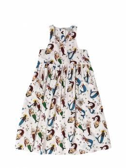 Платье Из Органического Хлопка Stella McCartney Kids 71I6SH050-OTIzNg2
