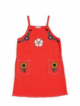 Платье Из Стретч Деним С Вышивкой Stella McCartney Kids 71I6SH044-NjU2NQ2