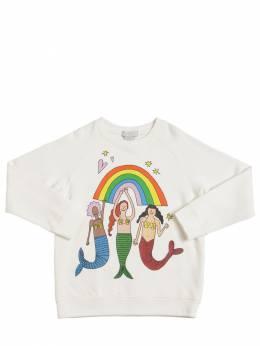 Свитшот Из Органического Хлопка С Принтом Stella McCartney Kids 71I6SH011-OTIzMg2