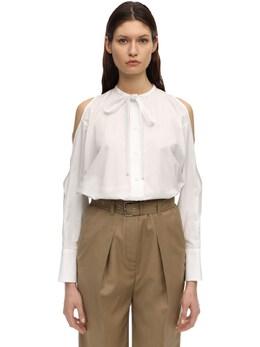 Рубашка Из Хлопкового Поплина Courreges 71I52W008-MDEw0