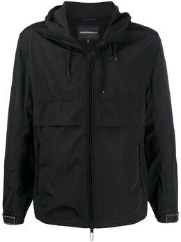 Emporio Armani layered style logo print jacket 3H1B931NXGZ