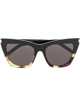 Saint Laurent Eyewear солнцезащитные очки в оправе 'кошачий глаз' SL214KATE