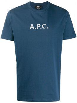 A.P.C. футболка с круглым вырезом и логотипом COEDAH26867