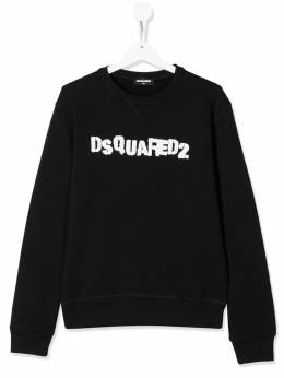 Dsquared2 Kids TEEN stamped logo print sweatshirt DQ03WND00XL