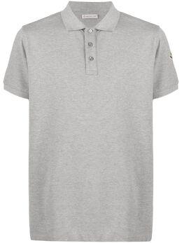 Moncler рубашка-поло с вышитым логотипом 8A7051084556