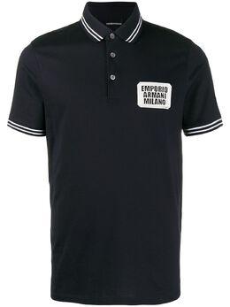 Emporio Armani embroidered logo polo shirt 3H1FN41JCQZ