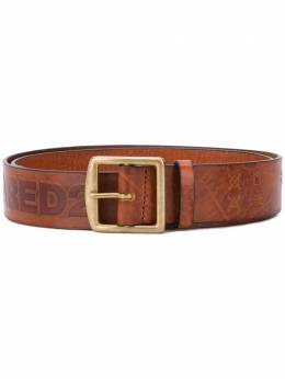 Dsquared2 antiqued single prong belt BEM025074100001