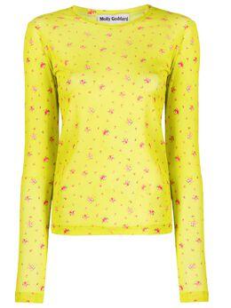 Molly Goddard сетчатая рубашка с цветочным узором MGSS2081