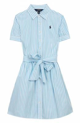 Хлопковое платье Polo Ralph Lauren 313795601