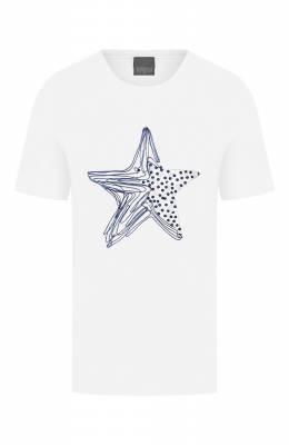 Хлопковая футболка Lorena Antoniazzi P2041TS013/9999