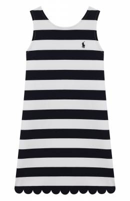 Хлопковое платье Polo Ralph Lauren 313784205