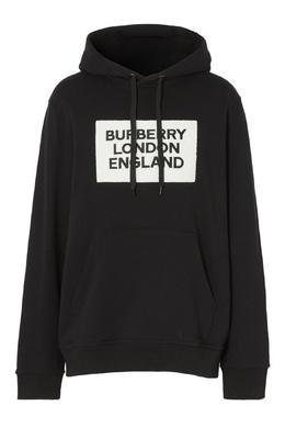 Черное худи с аппликацией Burberry 10187880
