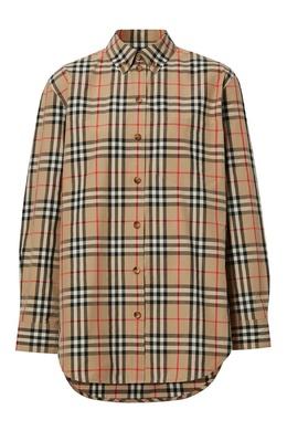 Клетчатая бежевая рубашка Burberry 10187727