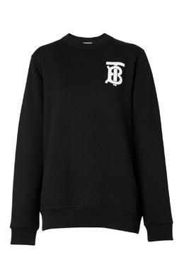 Черный свитшот с логотипом бренда Burberry 10187711