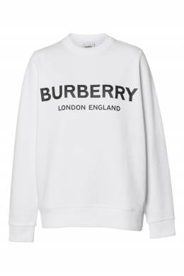 Свитшот белого цвета с логотипом Burberry 10188034