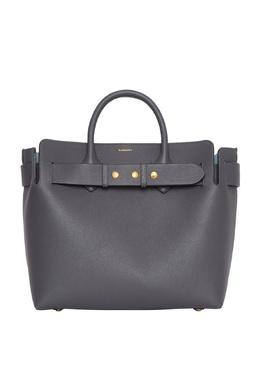 Серая сумка-шоппер Burberry 10187846