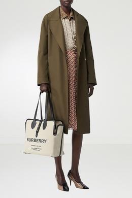Бежевая сумка с логотипом Horseferry Burberry 10188102