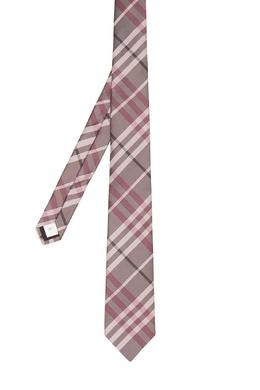Клетчатый галстук розового цвета Burberry 10188095