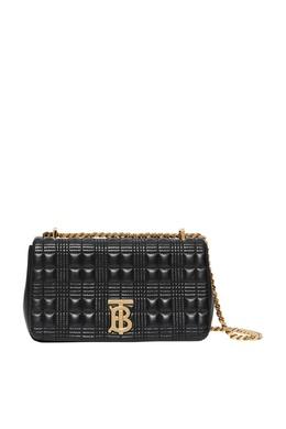 Стеганая сумка Lola черного цвета Burberry 10188093