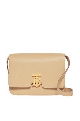 Бежевая сумка из кожи TB Burberry 10188090