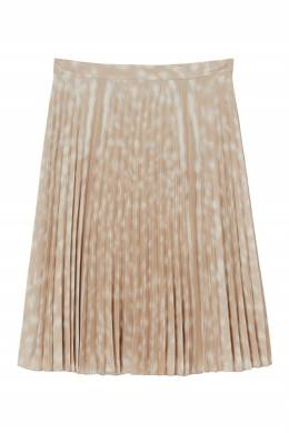 Плиссированная юбка с принтом Burberry 10187688