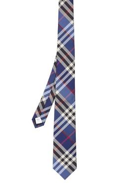 Синий галстук из шелка Burberry 10188086