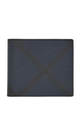 Синий кошелек в клетку London Check Burberry 10187987